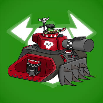 Carbot W40K Ork : Looted tank