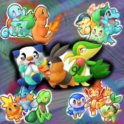 starter pokemon by MahoxyShoujo