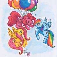 triple pony threat by MahoxyShoujo