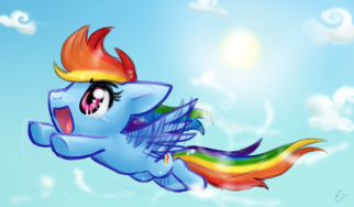 Chibi Rainbow Dash by FENNEKlNS