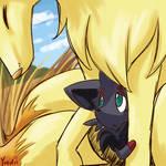 Kyuu and baby Inari