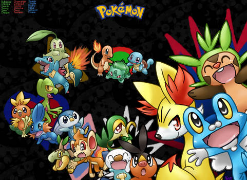 Every single Starter Pokemon