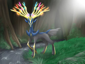 Xerneas by MahoxyShoujo