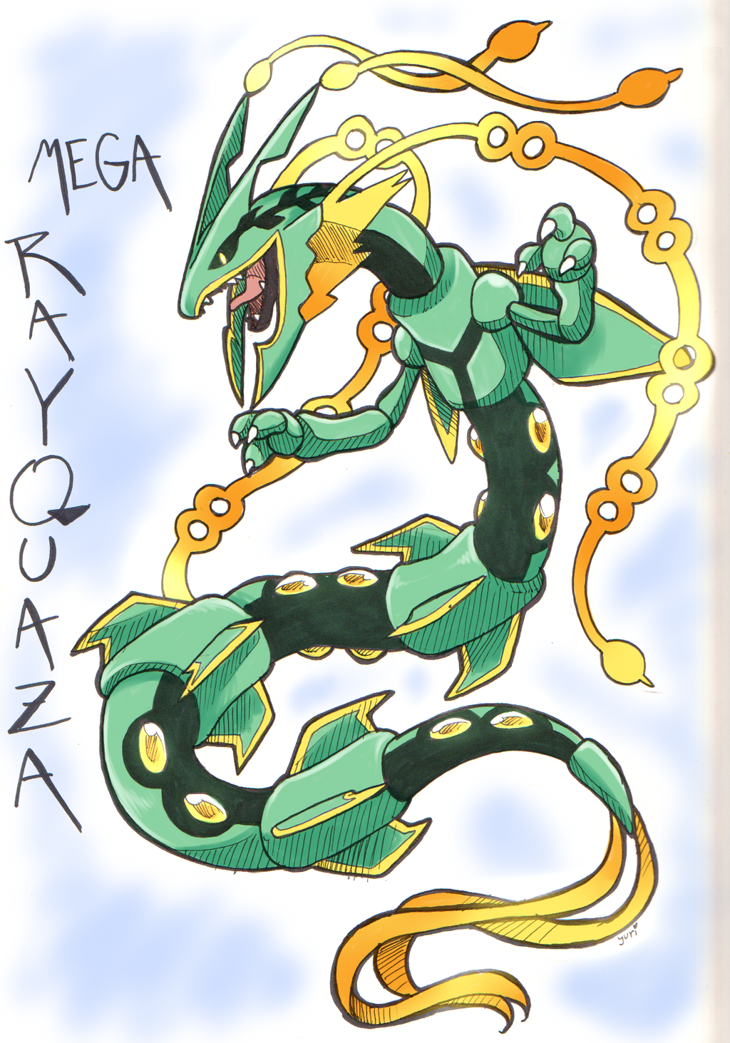 Mega Rayquaza By FENNEKlNS On DeviantArt
