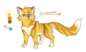 Warrior catsona- Goldenheart by MahoxyShoujo