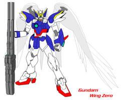 Gundam Wing Zero Kai Sketch by halconfenix