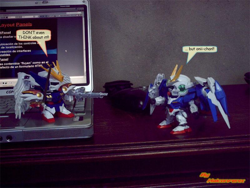 Zero Custom and 00 Raiser - SD by halconfenix