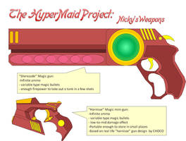 HyperMaid Project - weapons by halconfenix