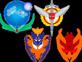 PseudoComic Faction Logos by halconfenix