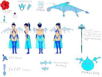 Concept Sketch: Fiji the Artesian gawdess by halconfenix
