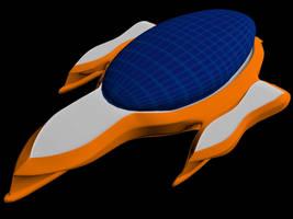 3D Model: Futuristic Yacht