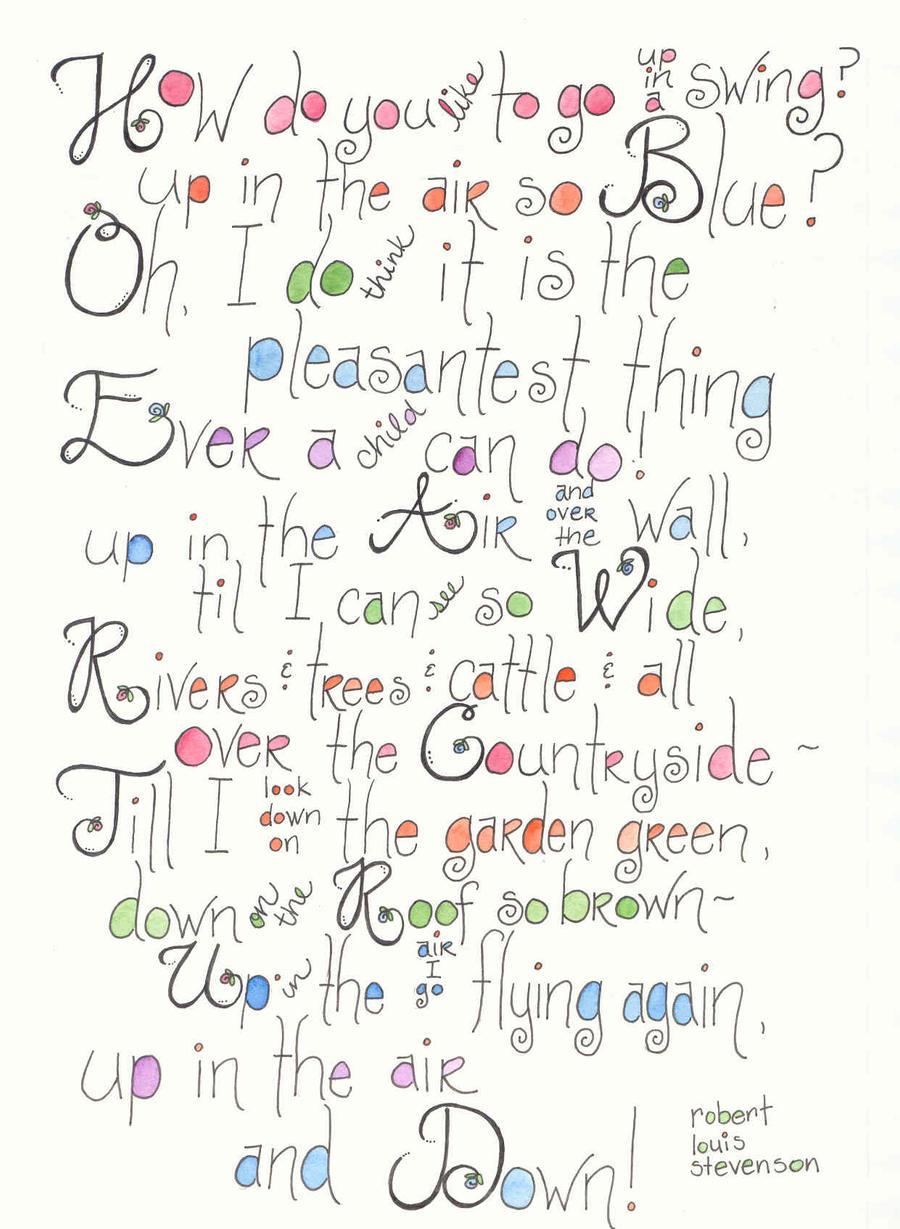 Watercolor Poem The Swing By Goylegirldesigns On Deviantart
