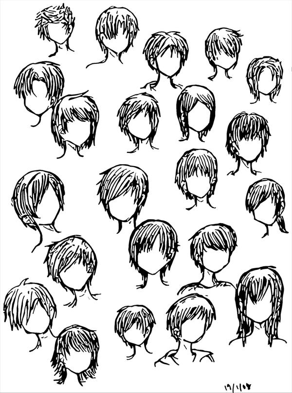 anime hairstyles. Boy Hairstyles by ~DNA-lily on