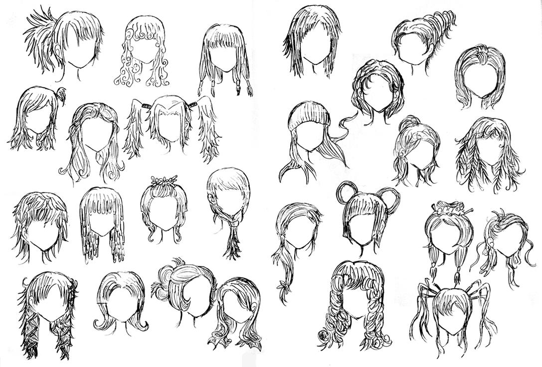 how to draw chibi hairstyles for girls - Google Search ...