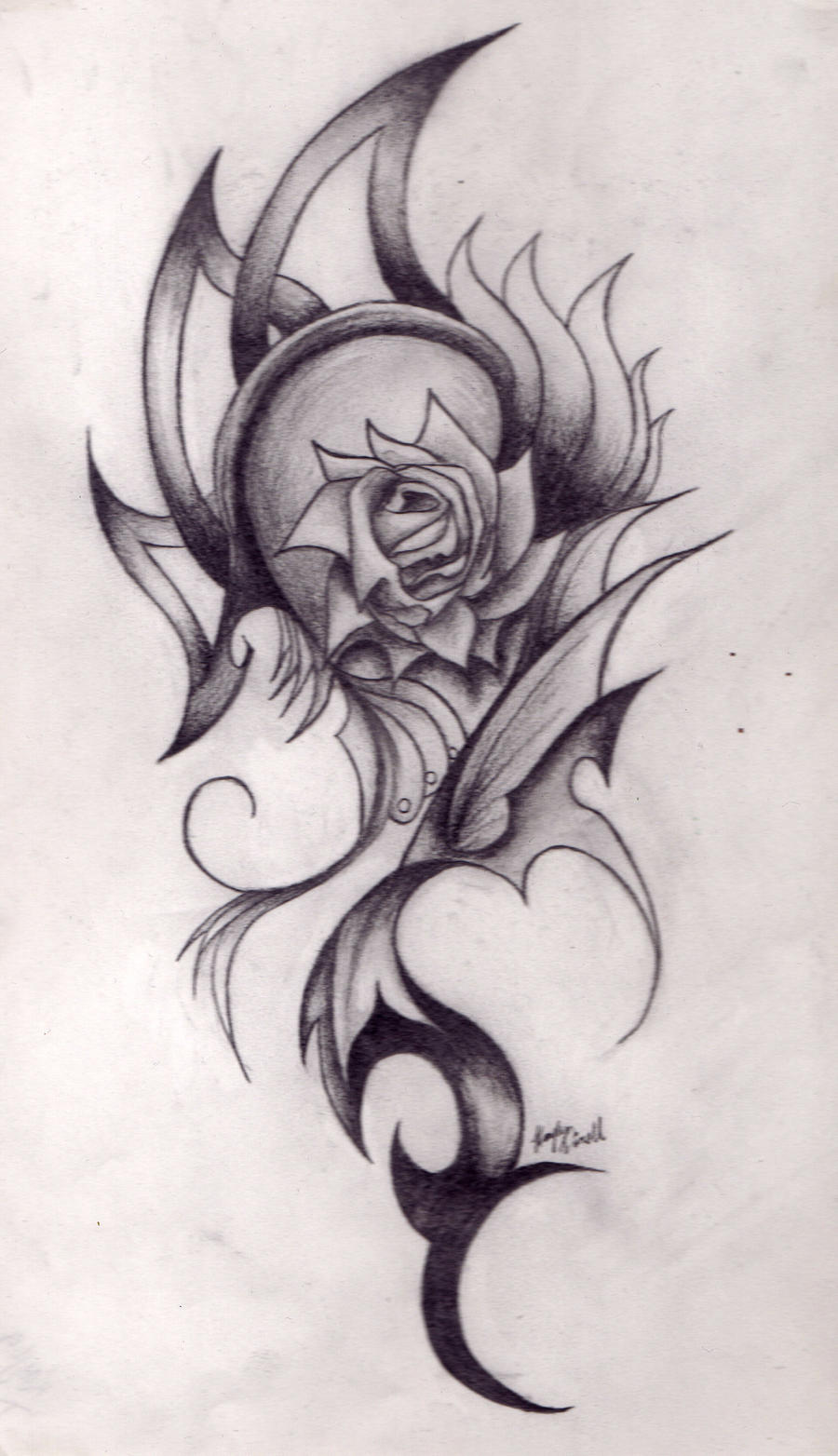 Abstract Rose Pencil Drawing by ThatsWicked on DeviantArt