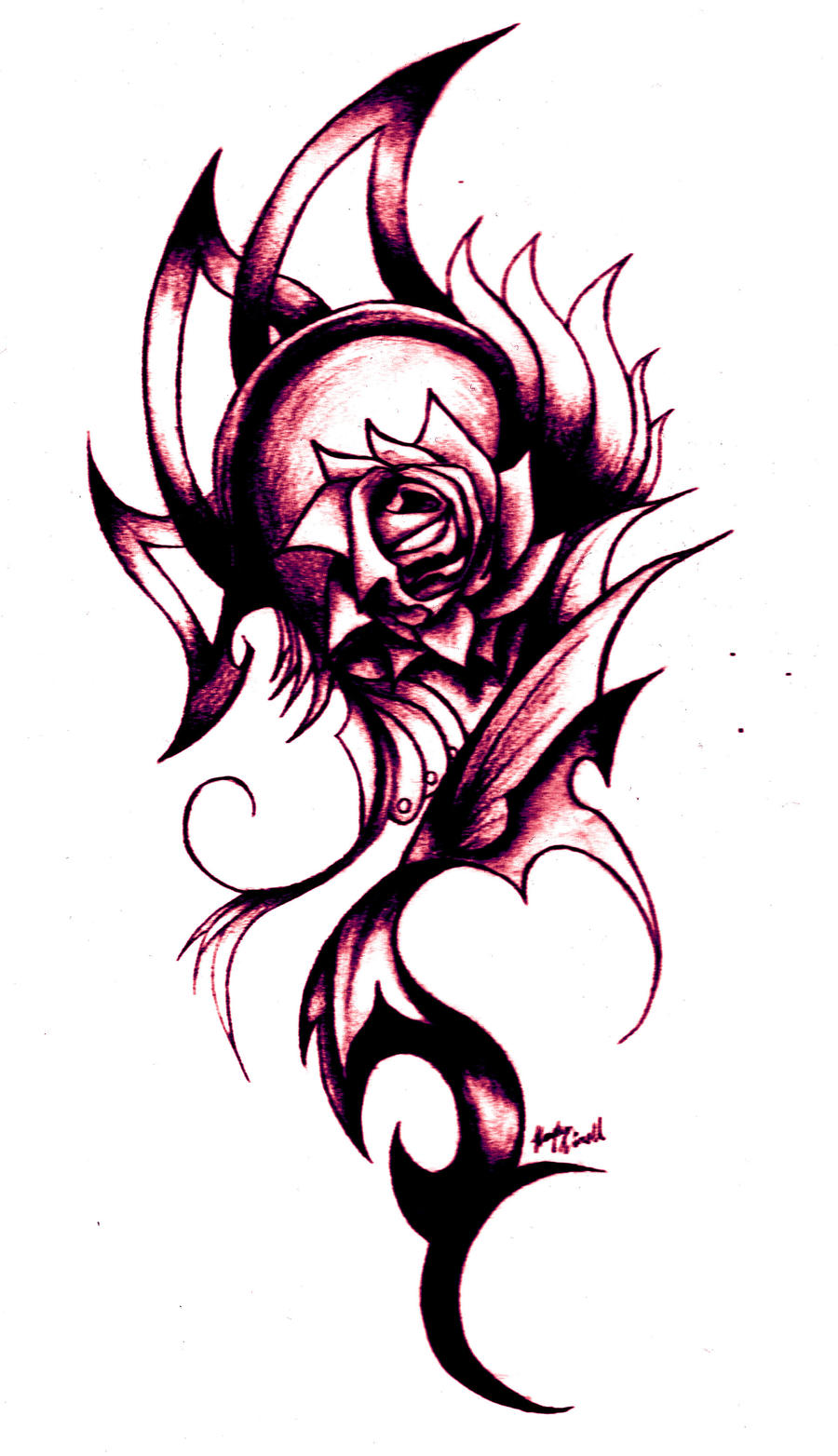 abstract rose pencil drawing edit by thatswicked digital art drawings ...