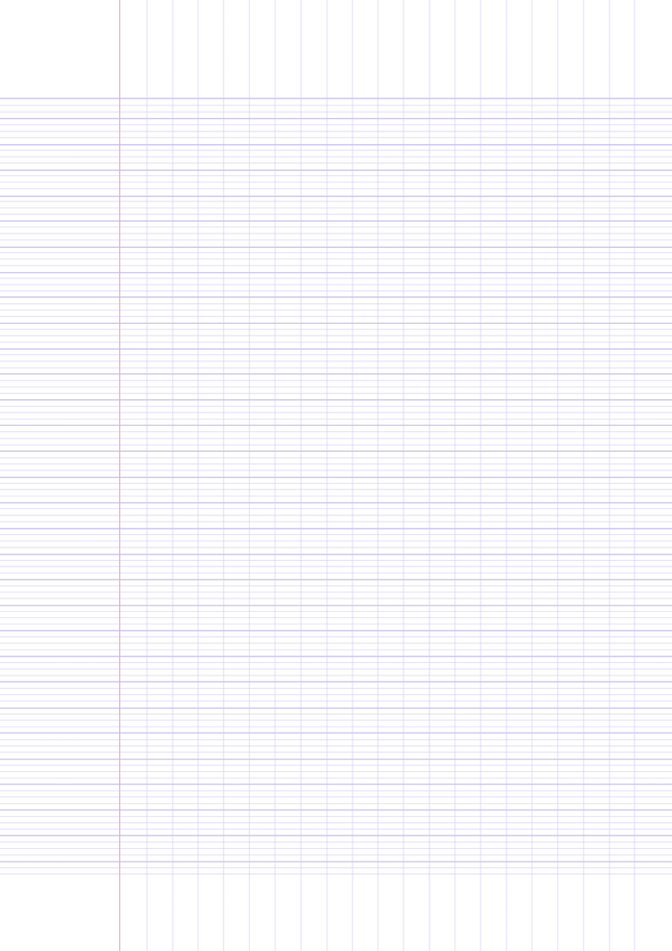 Printable French Ruled Paper Template (A4 Size) by ...