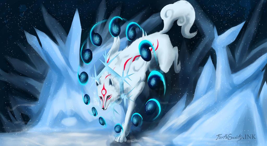 Amaterasu's Glazing Tundra Beads by ForthSanity