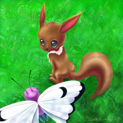Eevee - How are you, Butterfree? by ForthSanity