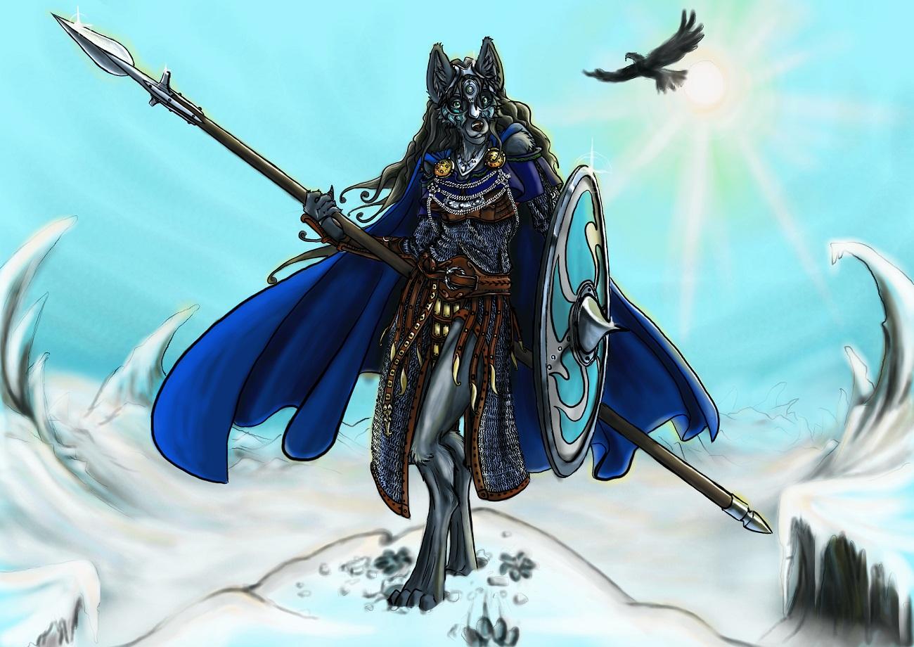 Bluari the Valkyrie by DanoGambler