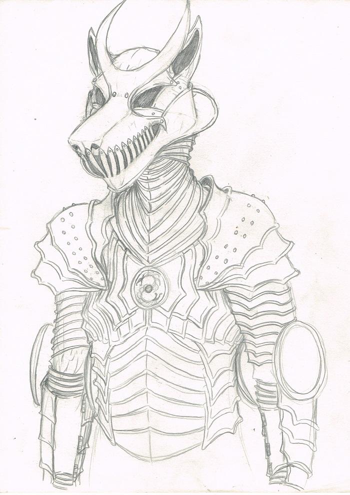 Armor doodle by DanoGambler