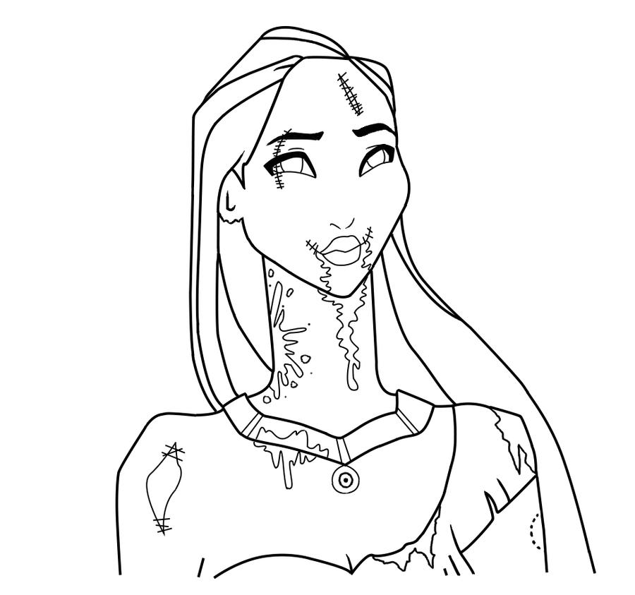Pocahontas Lineart By Serene-Shadow On DeviantArt