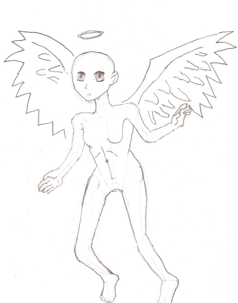 Anime Angel Girl Base By 3moBlondii