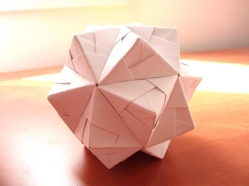 origami triambic icosahedron by komplexgyok on deviantart