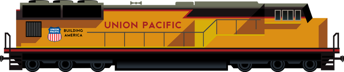 Union Pacific Art Deco Locomotive