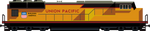Union Pacific Art Deco Locomotive by orangel8989