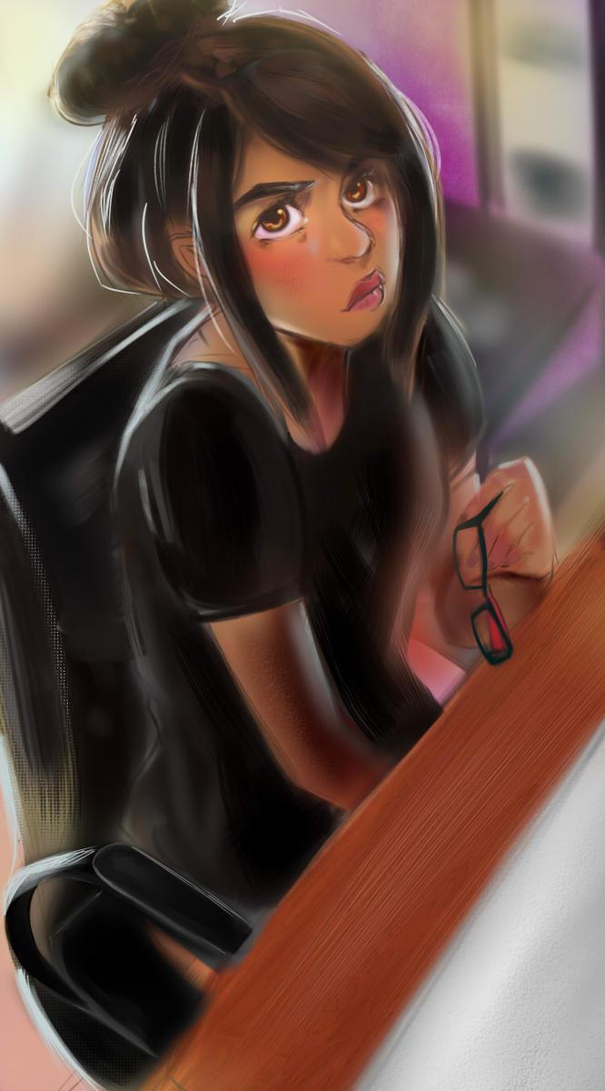 dA id-Self Portrait by Magenta-X
