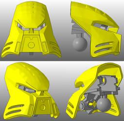 3D work : Kanohi Kualkama [commission] by vahki6