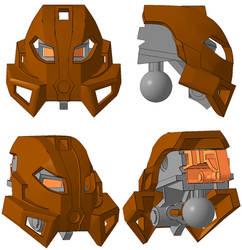 3D work : Vanguard Kanohi Kakama by vahki6