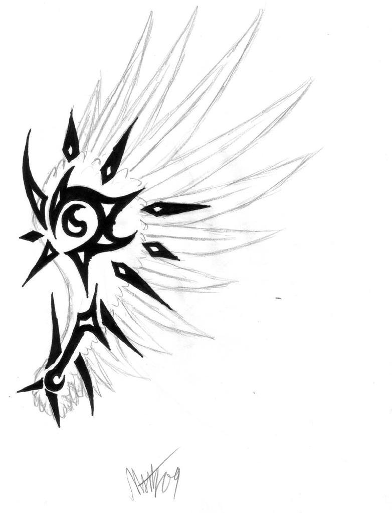 wing tattoo design by misty t h on deviantart. Black Bedroom Furniture Sets. Home Design Ideas