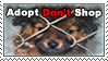 Adopt Don't Shop Stamp by xXRoconzaXx