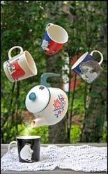 Flying teaparty.
