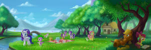 A Relaxing Afternoon (Part 1+2) by EmeraldGalaxy