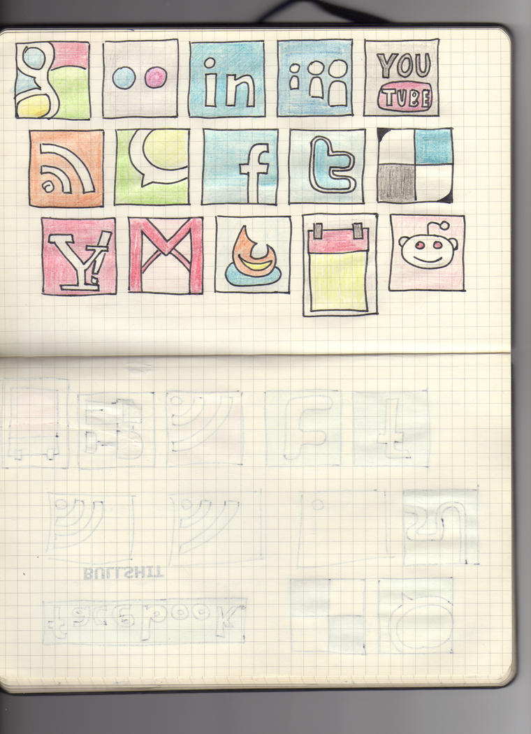 Hand drawn social media icons2 by rafiki270