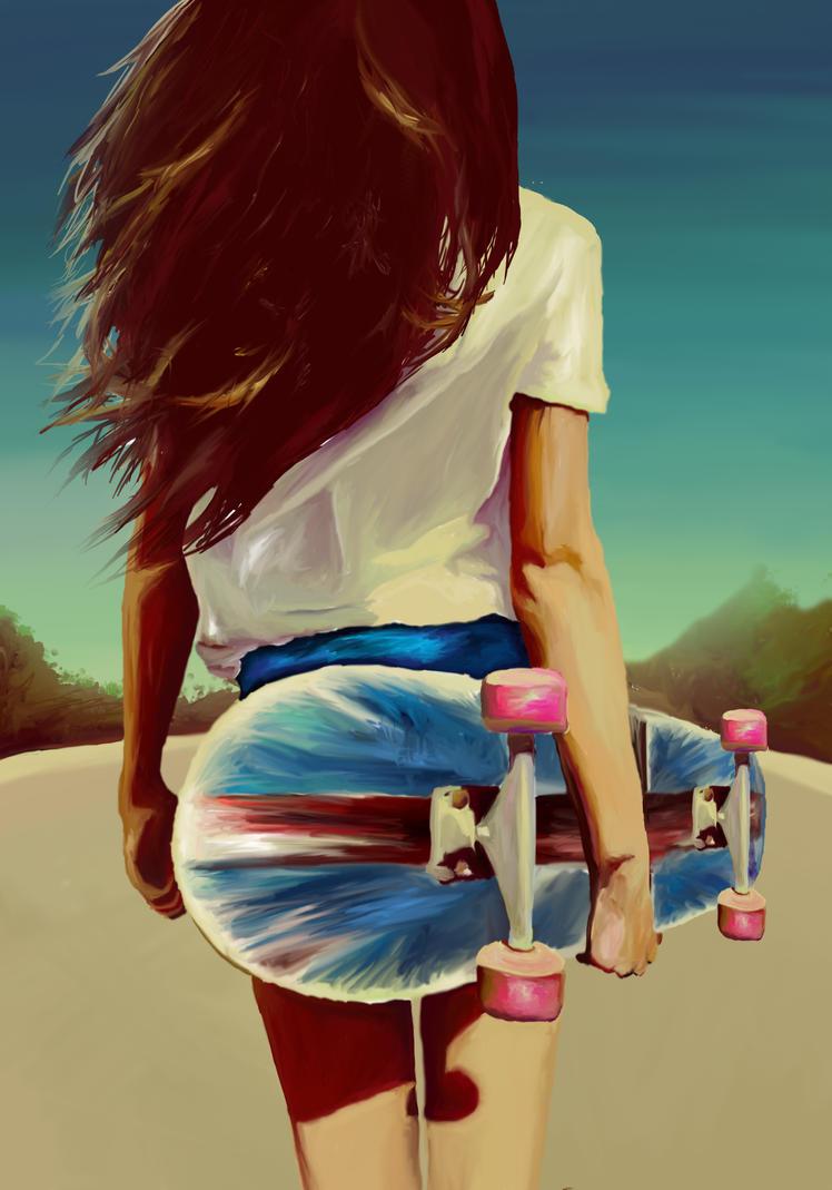 skater girl by lukehastie16 ...