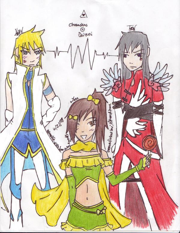 Luna, Keiru, Tyrin by WickedlyxInsane