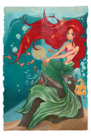 Ariel from the Little Mermaid by yienyien