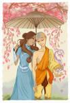 Aang and Katara from Avatar: The Last Airbender