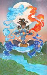 Korra from the Legend of Korra by yienyien