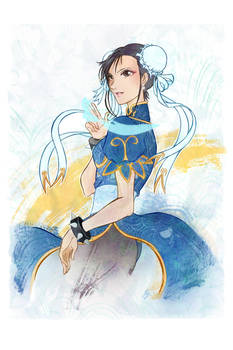 Chun-Li from the Street Fighter game franchise