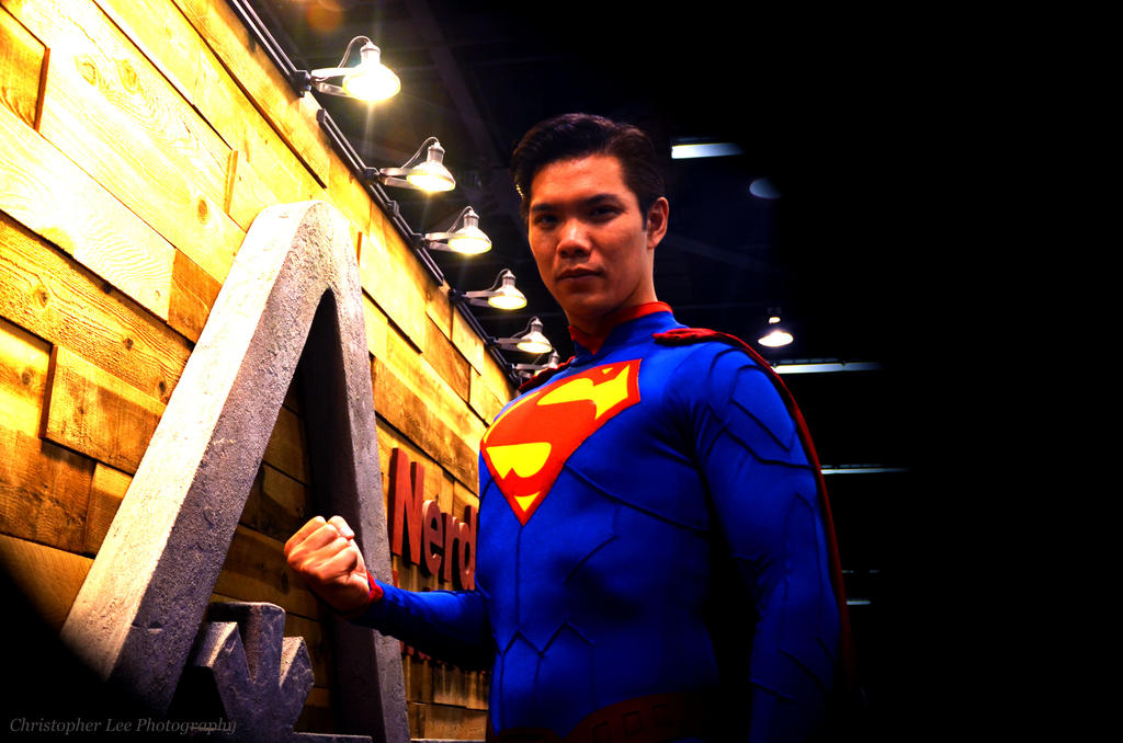 Superman of Wondercon by saxartist05