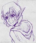Elf Girl Sketch