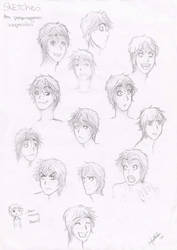 Sketches Expressions 1 by nakiry