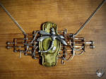 Steampunk lock necklace