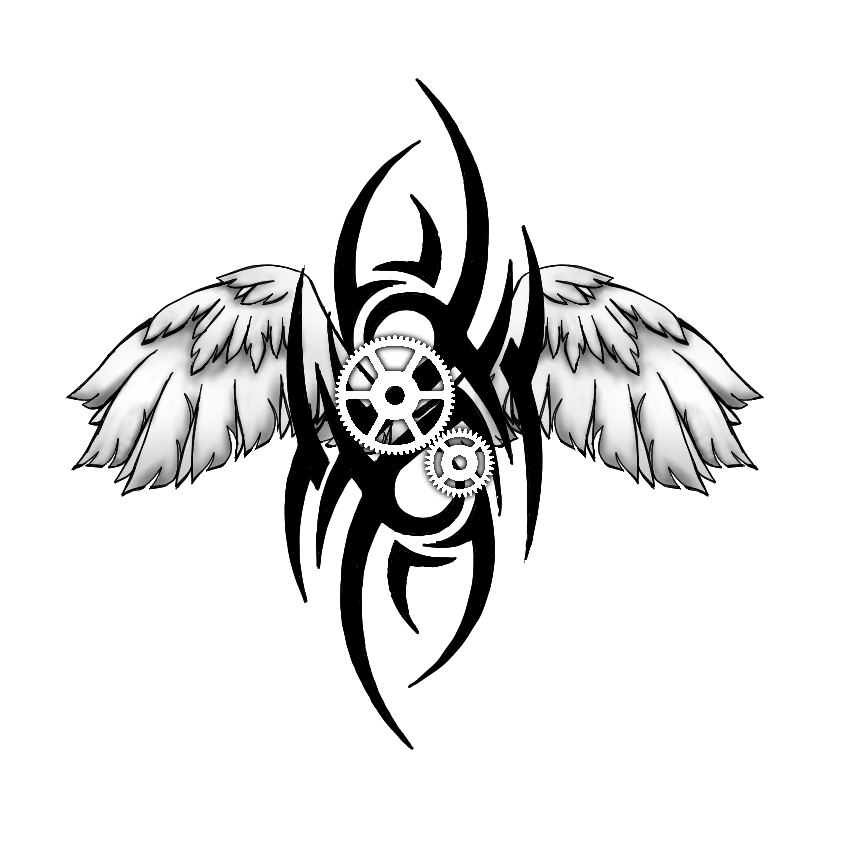 Tribal steampunk tattoo design by spiked fox on deviantart for Tribal tattoo shops near me