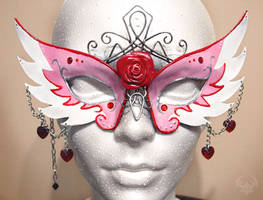 princess-style masquerade mask by Spiked-Fox